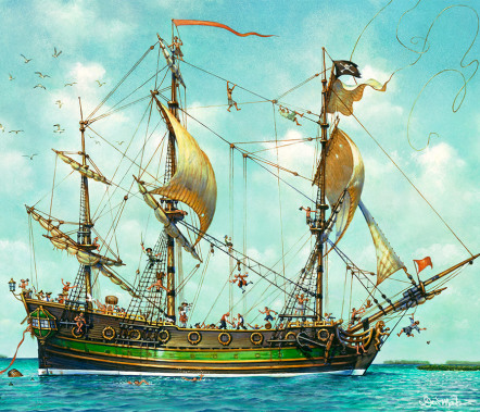 Don Maitz - Pirate Ships