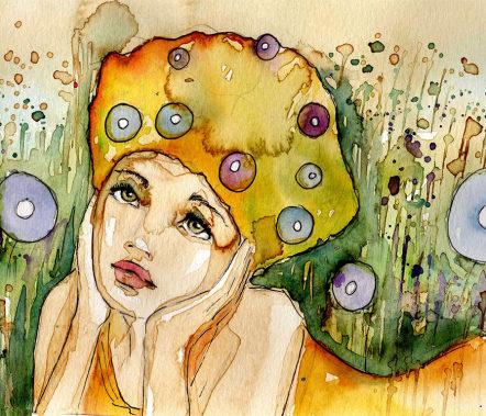 A Pensive Girl
